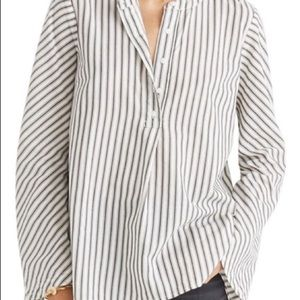 Madewell striped oversize bell sleeve tunic blouse